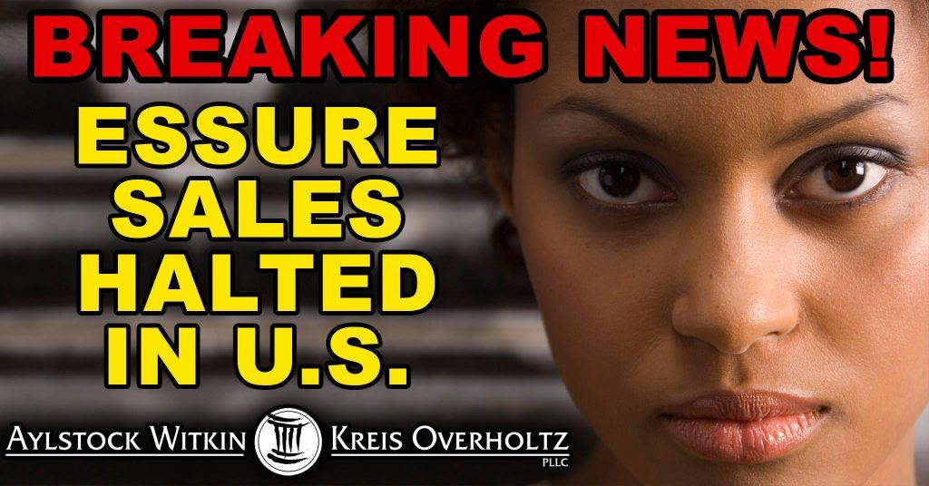 Essure Sales Halted in United States