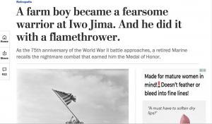Woody Williams Washington Post Article